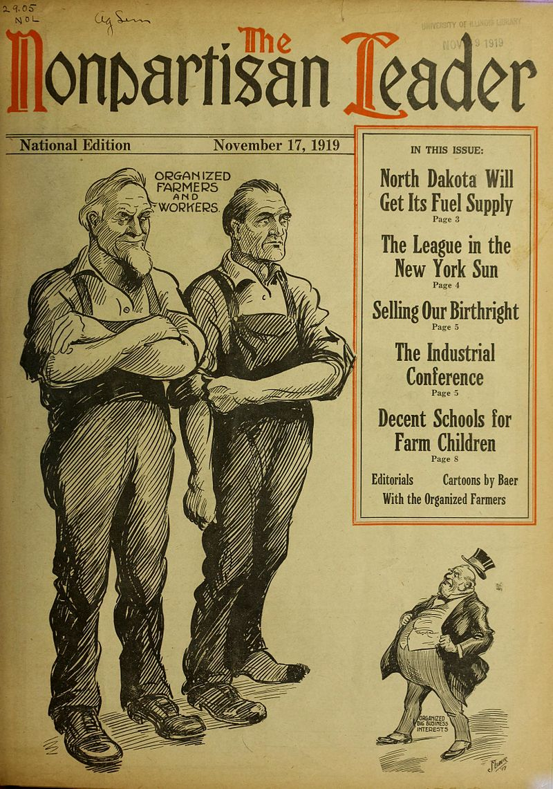1919 cover of the Nonpartisan League Journal