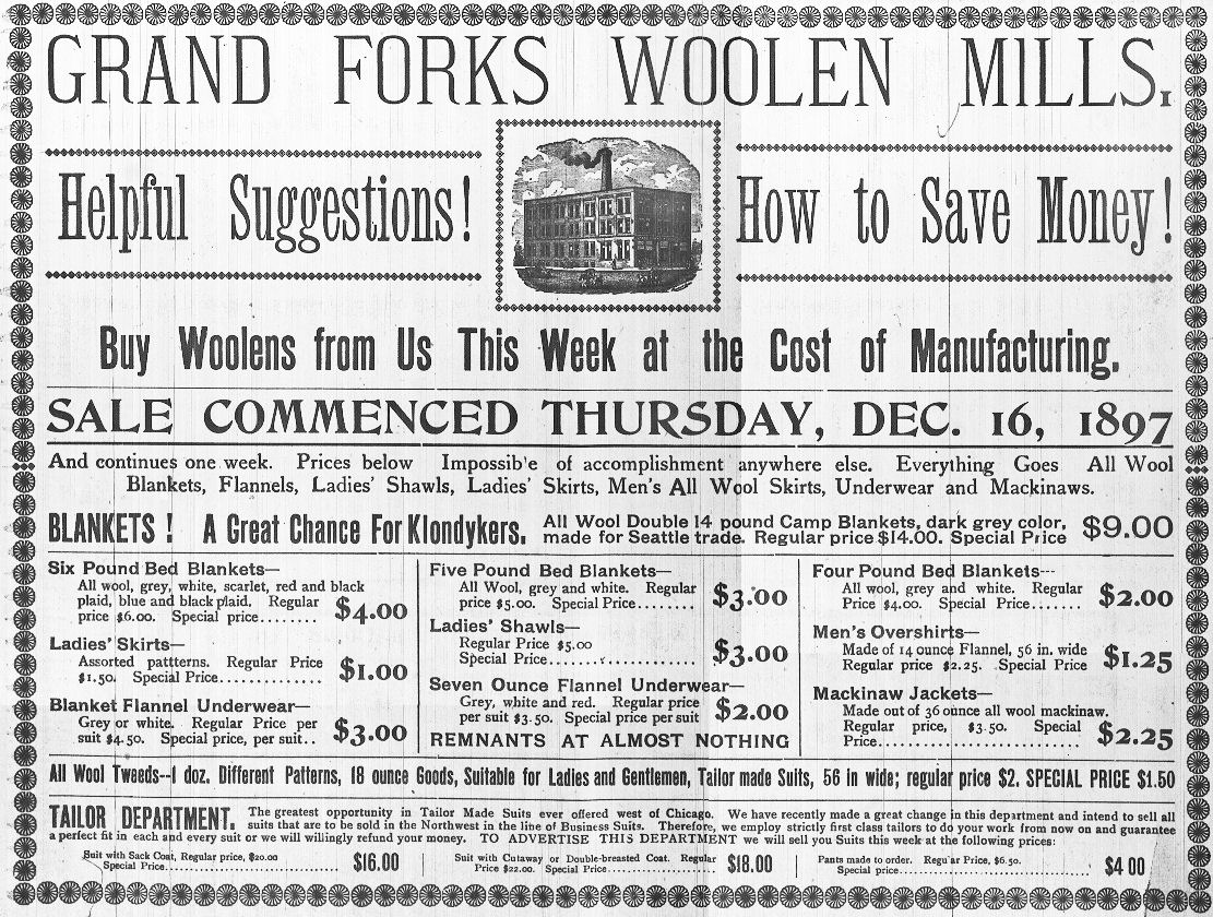 An 1897 ad for the mills