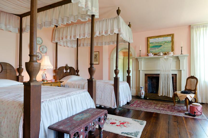 House, interior, upstairs bedroom