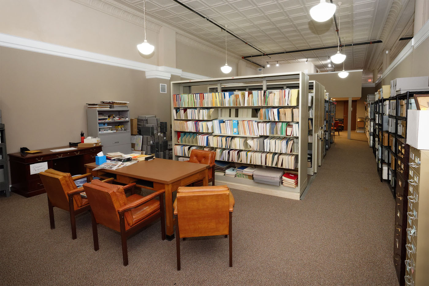 The research room is available for genealogy and local history research.