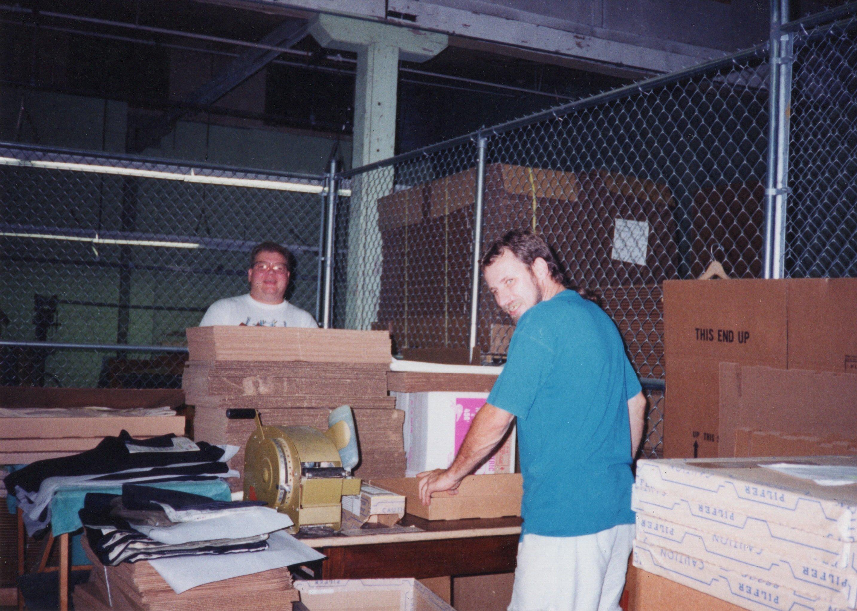 Unidentified Corbin Ltd. Shipping Dept. Employees packing order, Huntington, WV