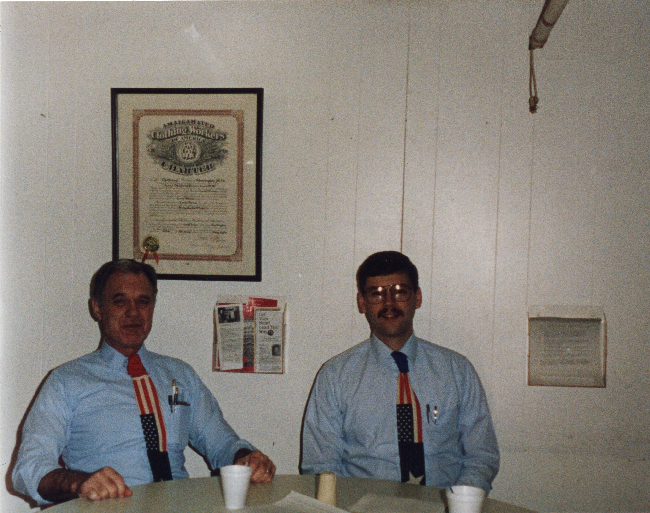 Corbin Ltd. Plant Manager Ken Felts and Engineer Tim Holton, 4th of July, Huntington, WV, 1990