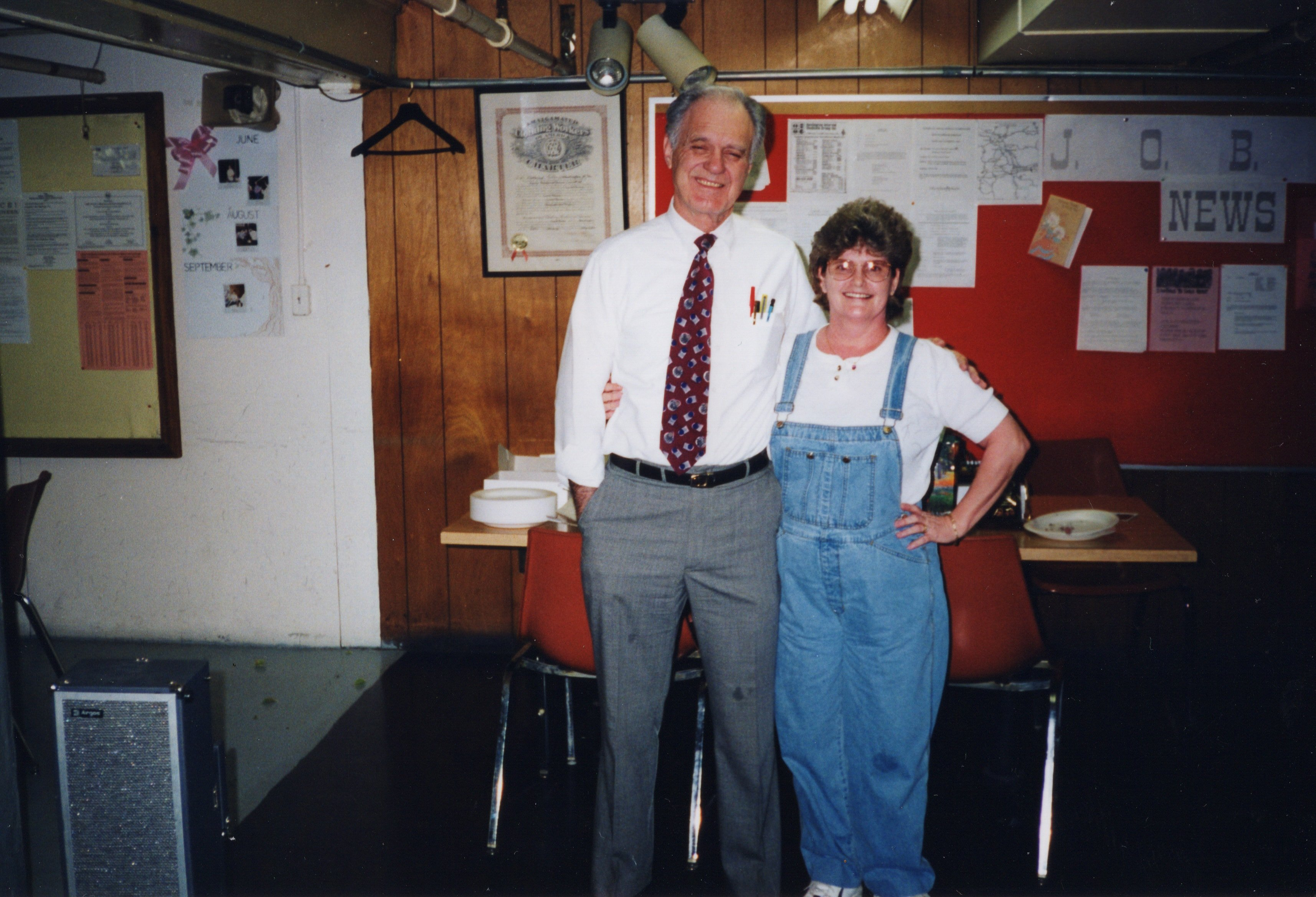 Corbin Ltd. Plant Manager Ken Felts and Machine Operator Betty Simpkins, Huntington, WV