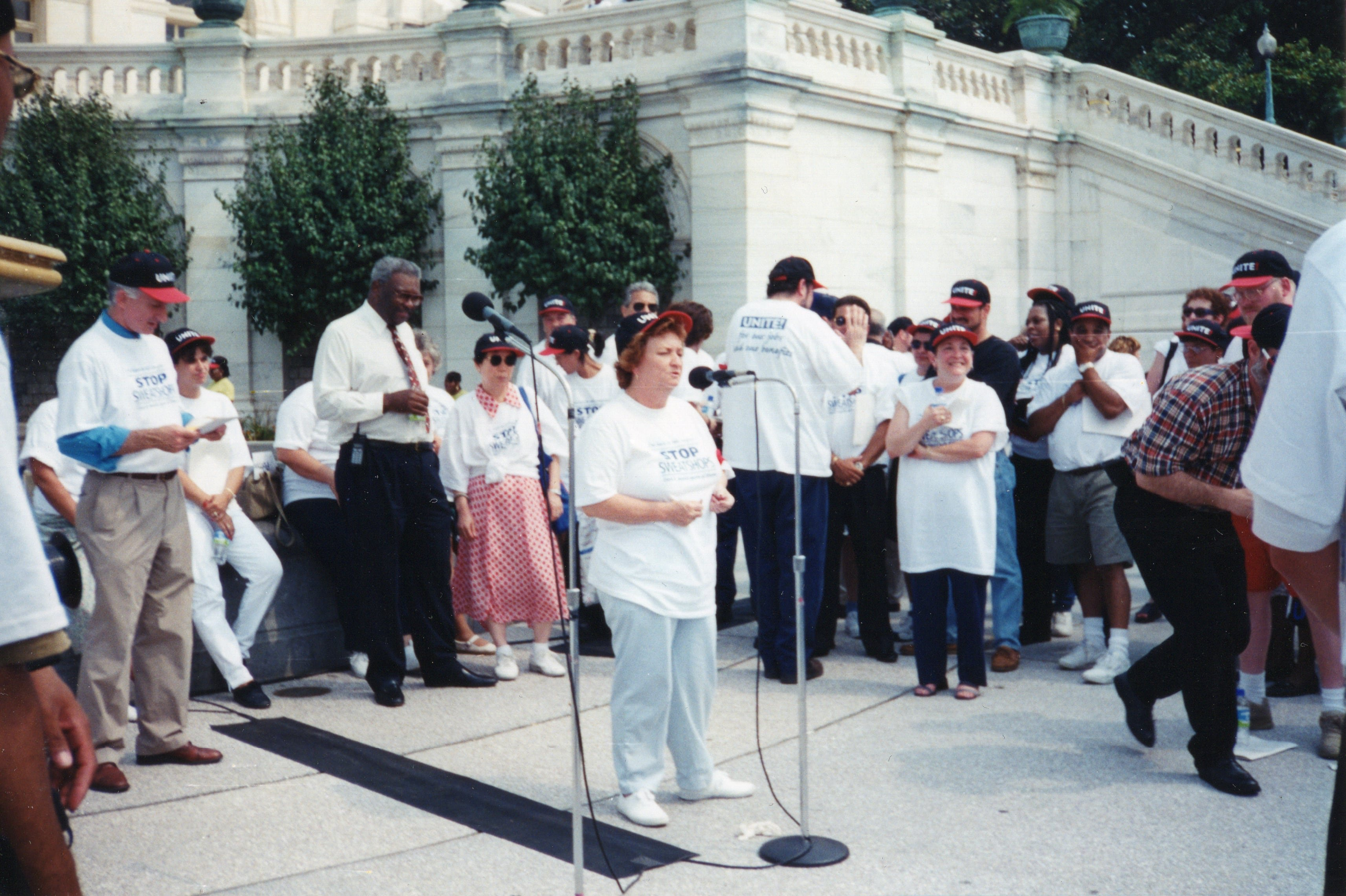 Frances Jackson, Local ACTWU Union President, Amalgamated Clothing and Textile Workers Union (ACTWU) Washington D.C. Protest, 1991
