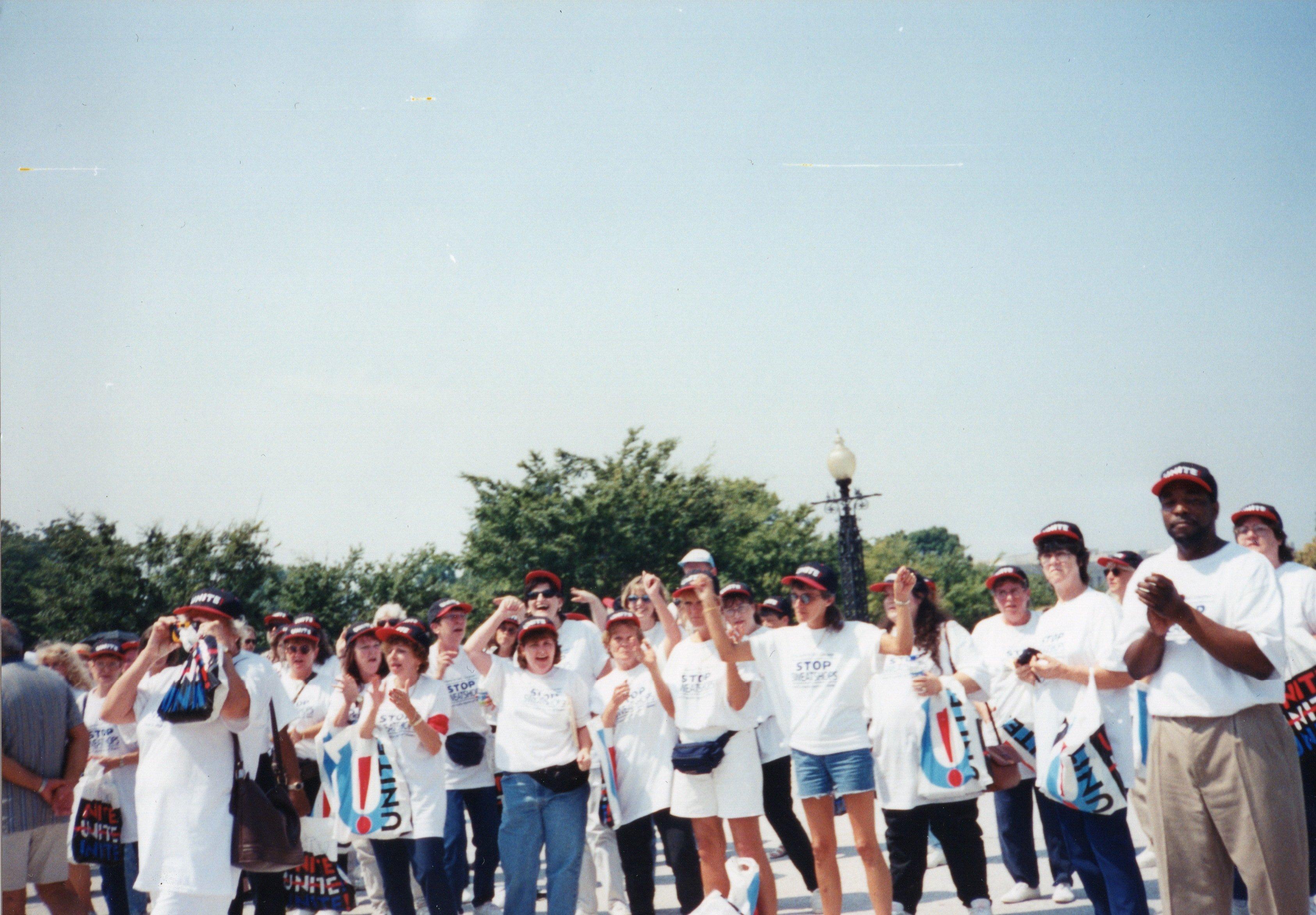 Amalgamated Clothing and Textile Workers Union (ACTWU) Protest, Washington, D.C., 1991