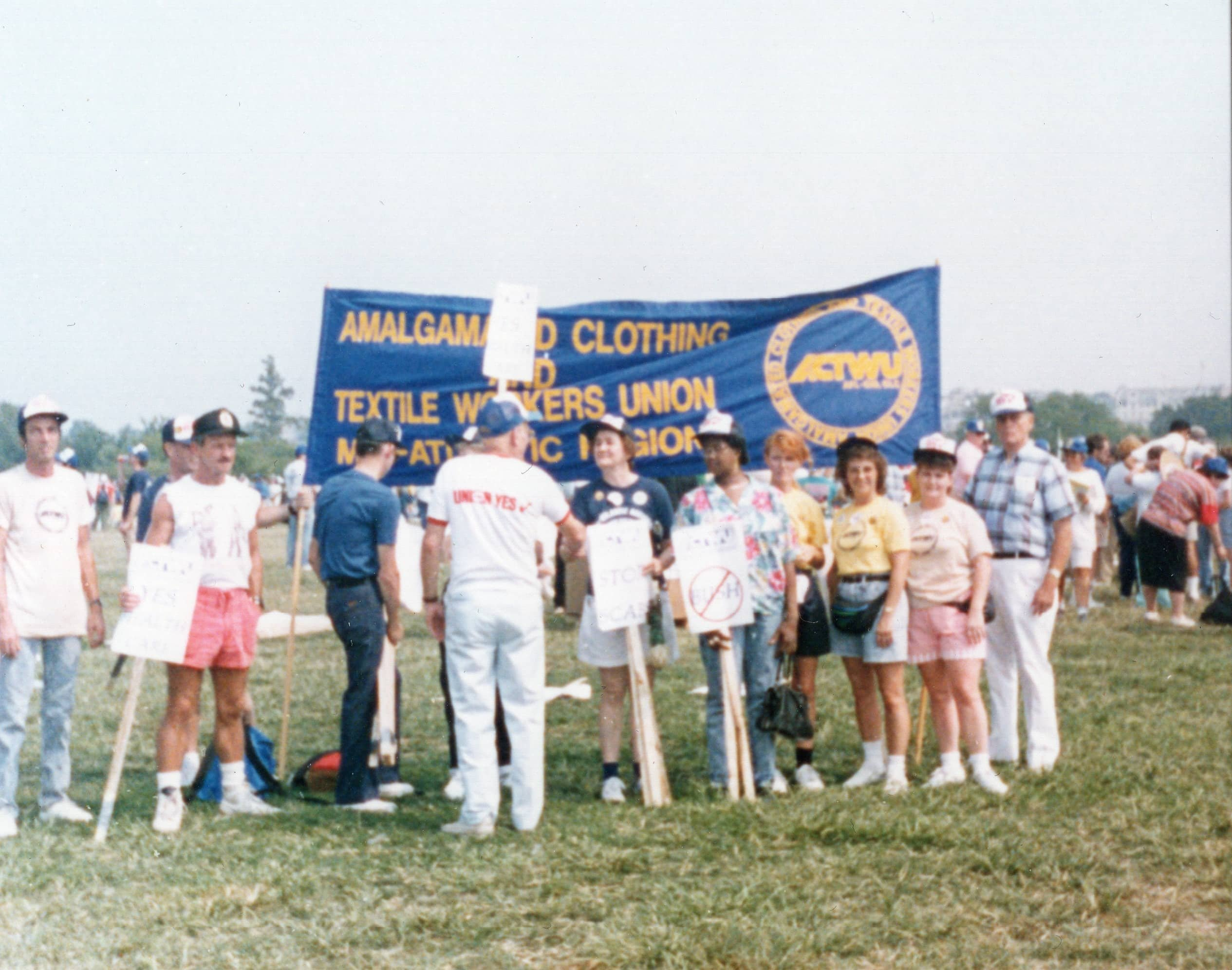 Amalgamated Clothing and Textile Workers Union (ACTWU) Protest, Washington, D.C., 1991