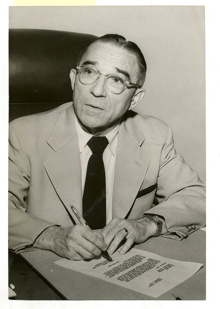 Ronald Davies in 1957 shortly after his actions towards the Little Rock School Board.