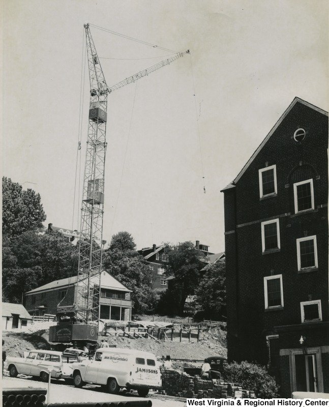 This is a picture of the Boreman North construction scene at Boreman Hall West Virginia