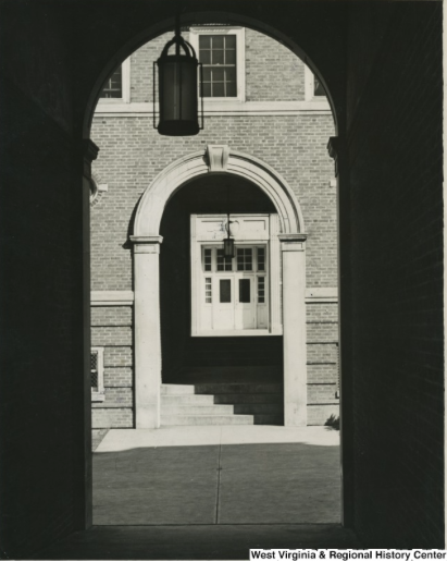 Courtyard of Boreman Hall, West Virginia University, 1939