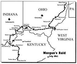 Morgan's Raid Map