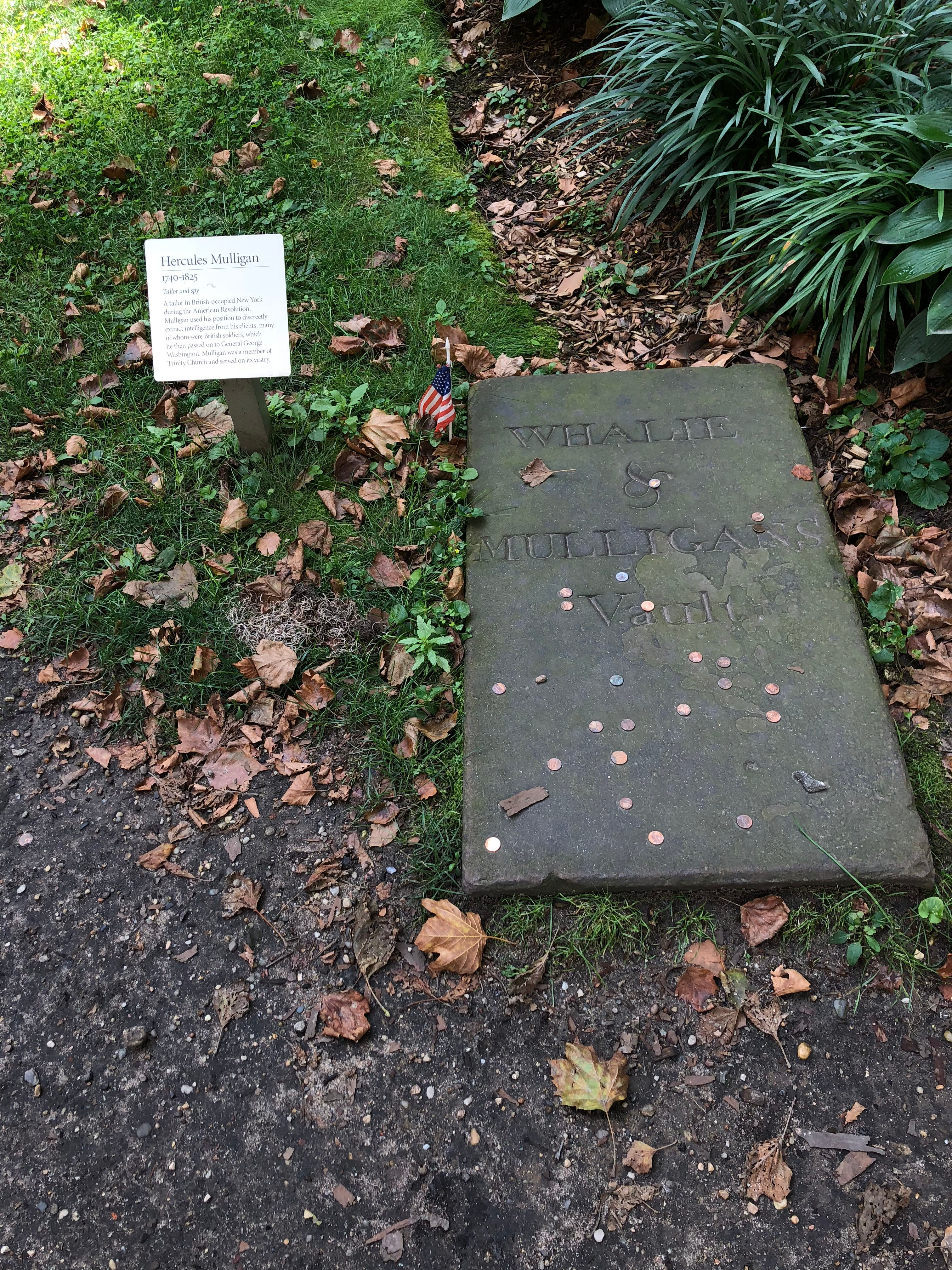 Mulligan died in 1825 at the age of 80 and is buried next to Alexander Hamilton in Trinity Church in New York City.