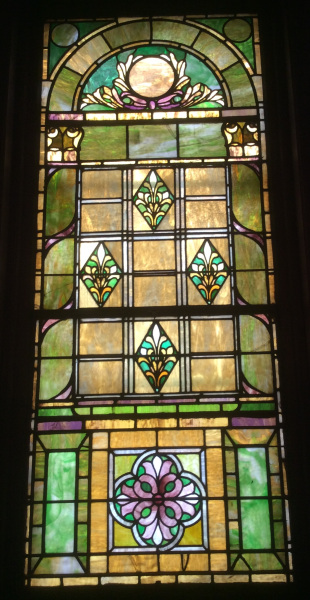 Stained glass window in the Central Presbyterian Church