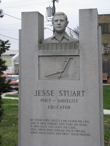 Jesse Stuart Monument (Side Profile)