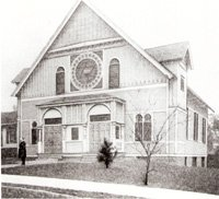 This temple at Park Avenue and Jackson Street was dedicated in 1908.