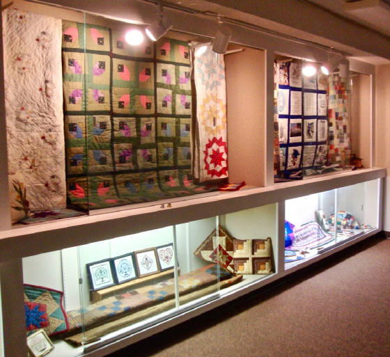 Temporary display on the art of quilt-making