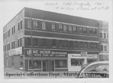 The Adelphia Hotel building in 1951