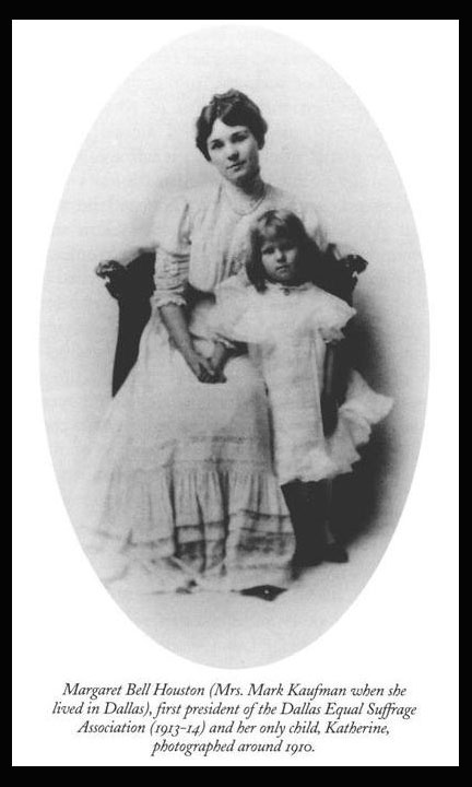 Margaret Bell Houston, the first president of DESA, and her only child circa 1910