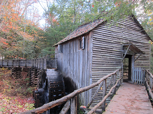 John Cable Grist Mill in Cades Cove courtesy of www.mysmokeymountainvacation.com
