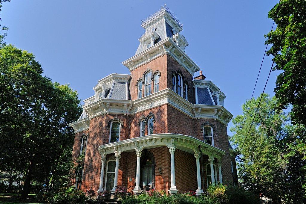 The Hower House is owned by the University of Akron and is on the National Register of Historic Places.