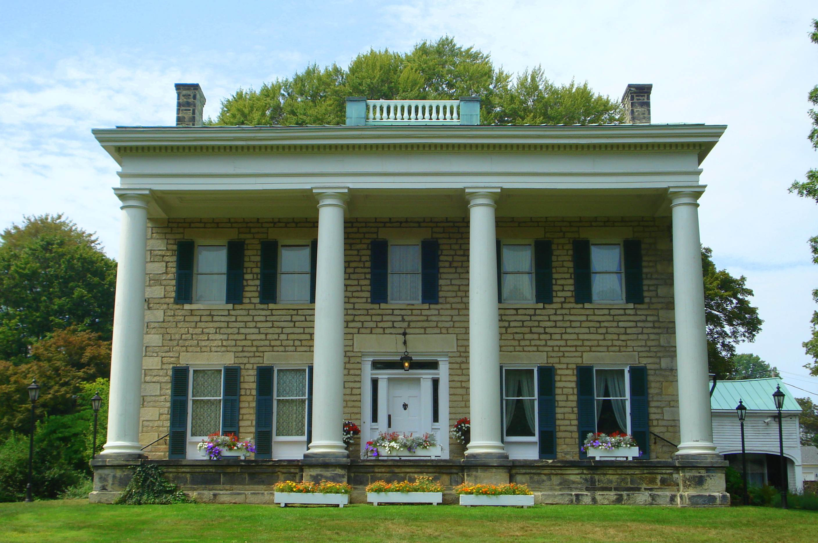 The Perkins Stone Mansion is on the National Register of Historic Places and was built by Colonel Simon Perkins, the son of Akron, Ohio's founder General Simon Perkins.