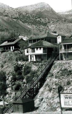 1920 of the stairs that lead from lower Tombstone Canyon to Quality Hill
