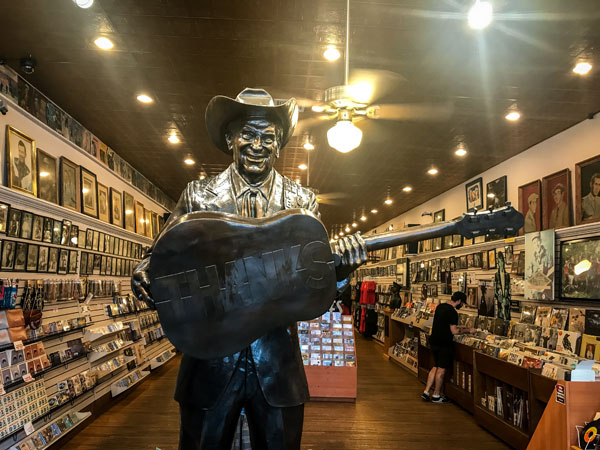 Statue of Ernest Tubb Inside the Record Shop