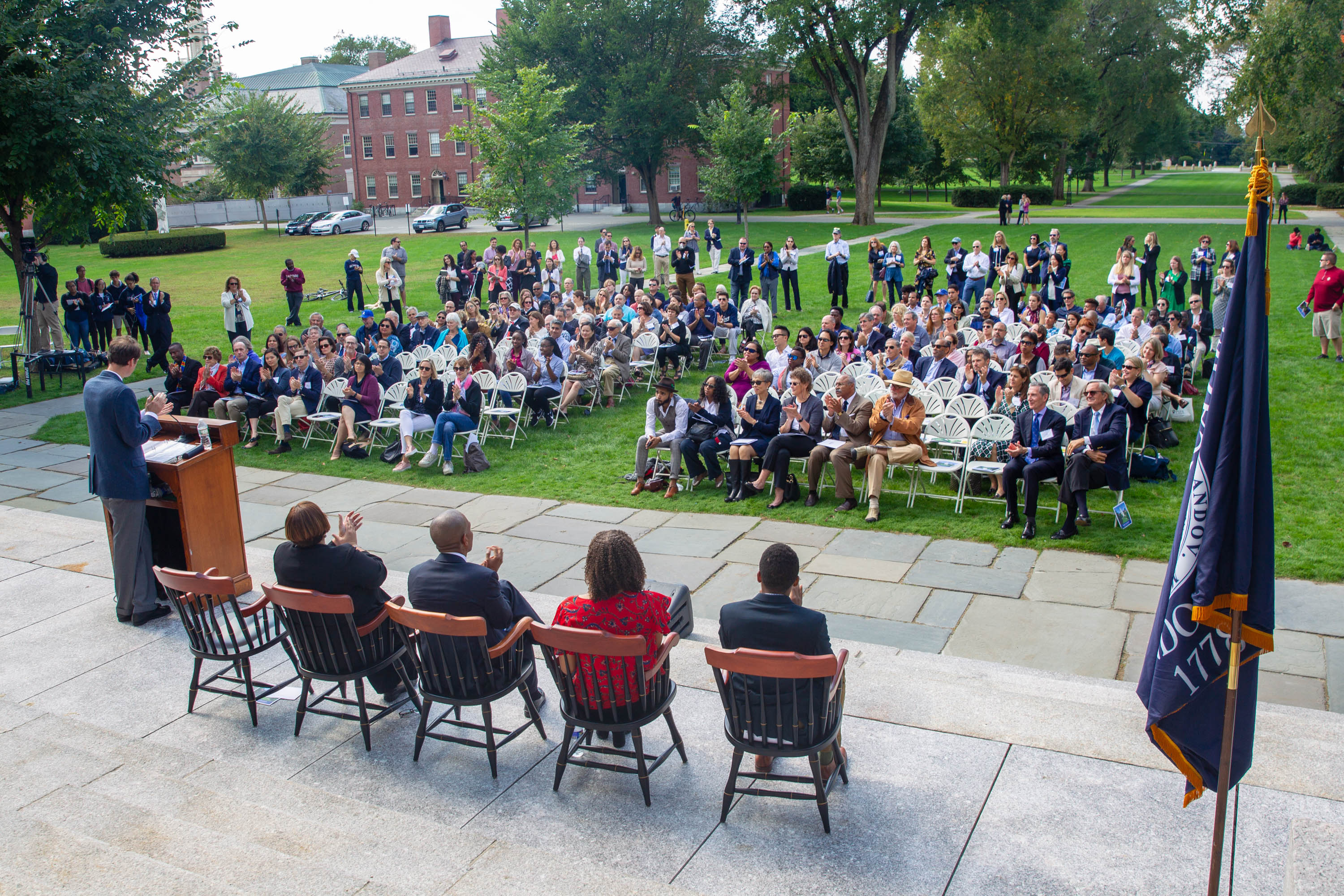 Dedication of the Richard T. Greener Quadrangle, September 29, 2018. Photograph by Bethany Versoy