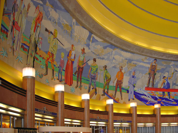 A small part of the mosaics that line the rotunda.