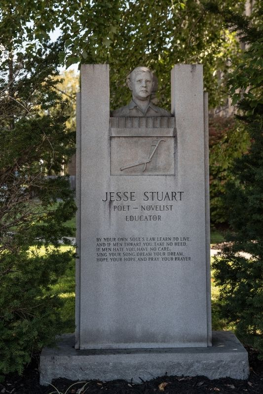 Jesse Stuart Monument (Frontal Profile)