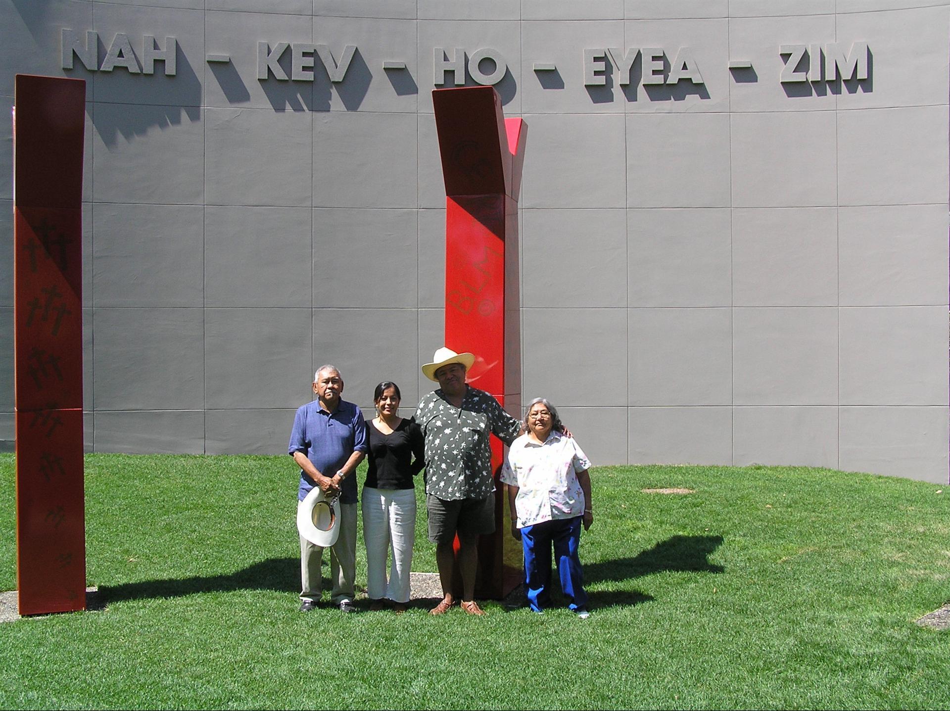 """nah-kev-ho-eyea-zim"" on North Wall, celebration ceremony 2005 (old site)"