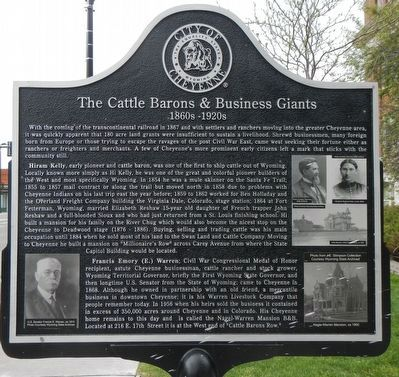 The front side of the marker