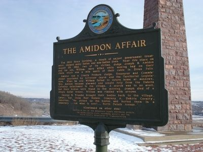 Front side of the Amidon Affair marker