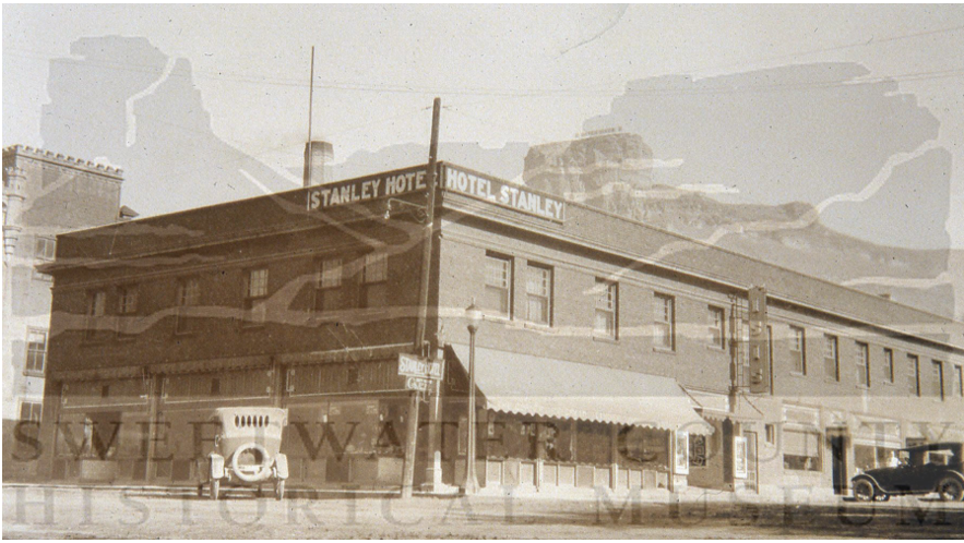 The Stanley Hotel took the place of what was once the Morris Mercantile