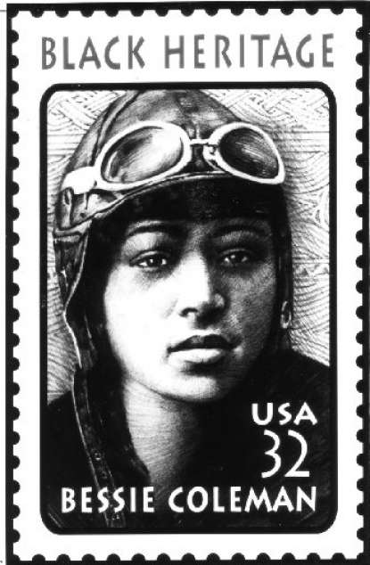 Coleman Postage Stamp released by the US Postal Service in 1995