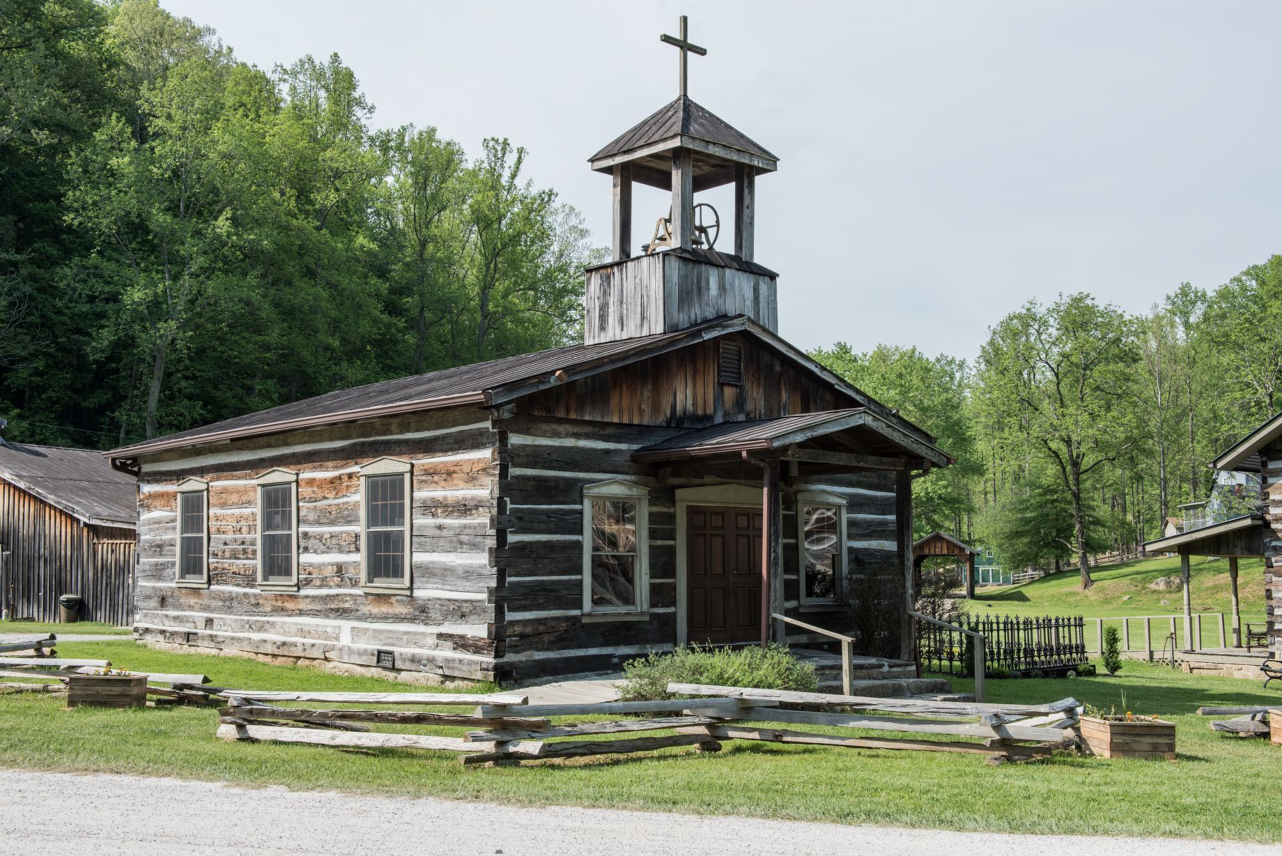 Churches in early Appalachian settlements were often the physical, spiritual, and social centers of the community.