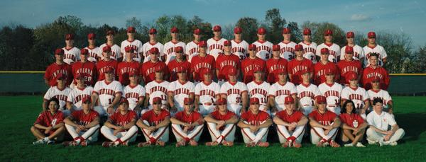 The 1997 Hoosiers showcase their home and away uniforms