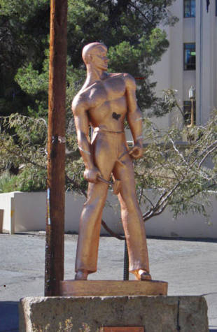 The Copper Miner from another angle. Photo courtesy of the University of Arizona