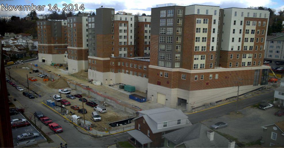 University Place/Seneca Hall under construction