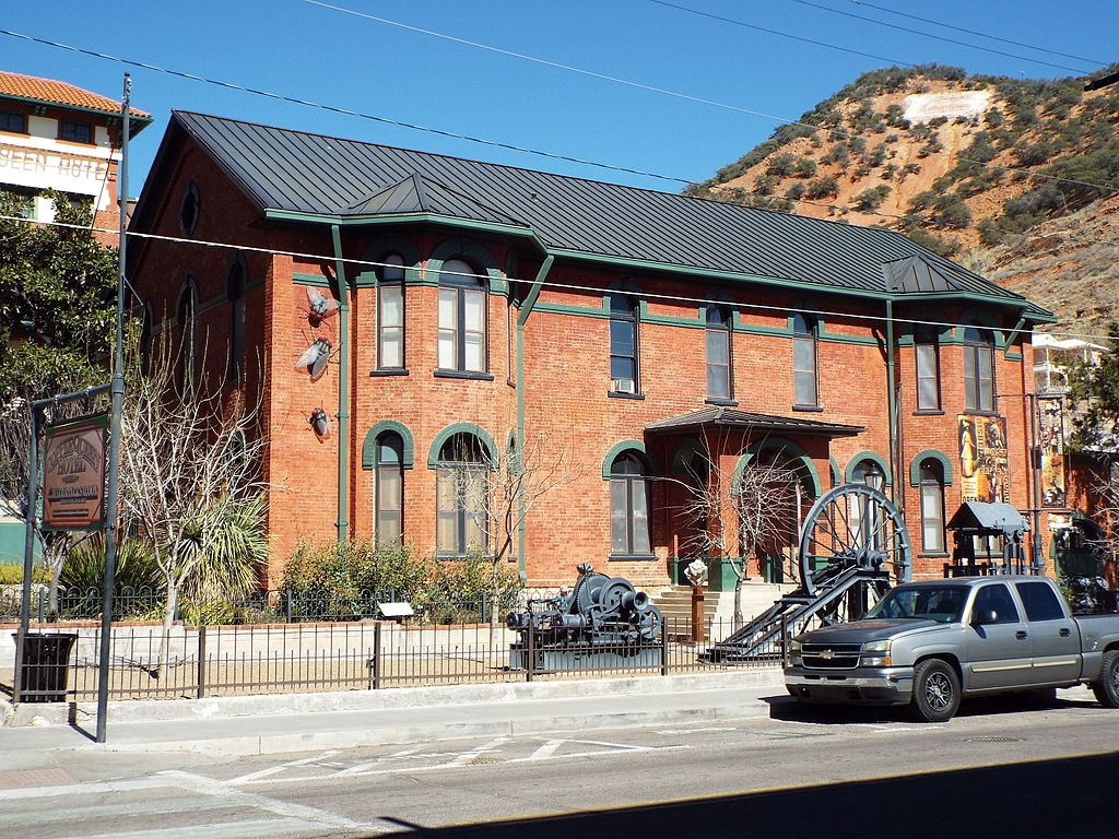 The Phelps Dodge Headquarters Building, now the Bisbee Mining & Historical Museum as it looks today