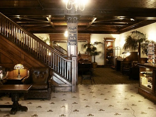 Lobby and staircase of the hotel