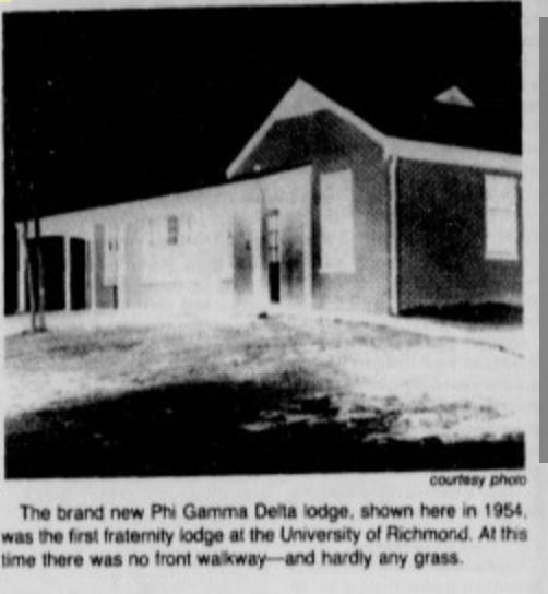 Phi Delta Gamma lodge 1954