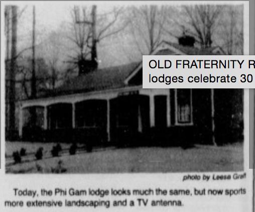 Phi Delta Gamma lodge 1984