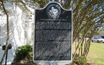 Clubhouse Historical Marker