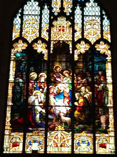 One of the 41 stained glass windows