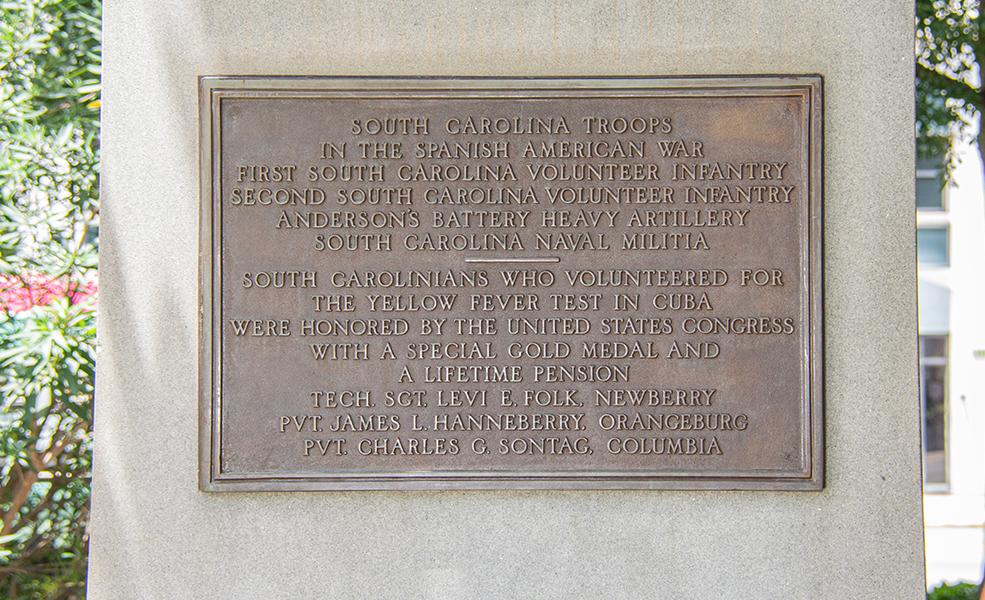 South plaque, Spanish-American War Veterans Monument