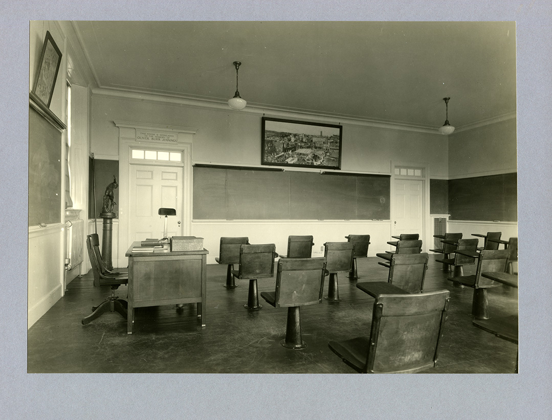 Samuel Phillips Hall classroom. Photograph by Arthur Haskell