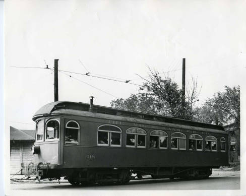 An electric car on the Strang Line