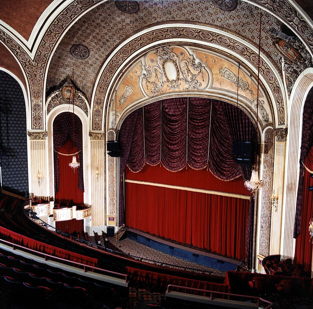 View inside the theater