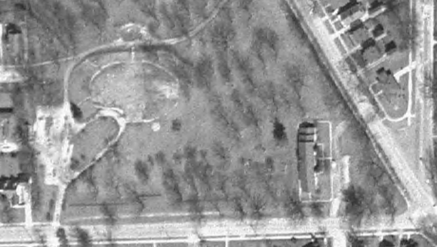 Caples Sanitarium 1963 Aerial Photo after demolition