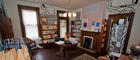 Inside the Thurber House bookstore
